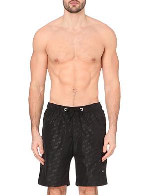 ARMANI JEANS Logo velcro-fastened swim shorts