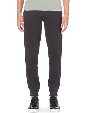 ARMANI JEANS Embroidered-logo cuffed jogging bottoms
