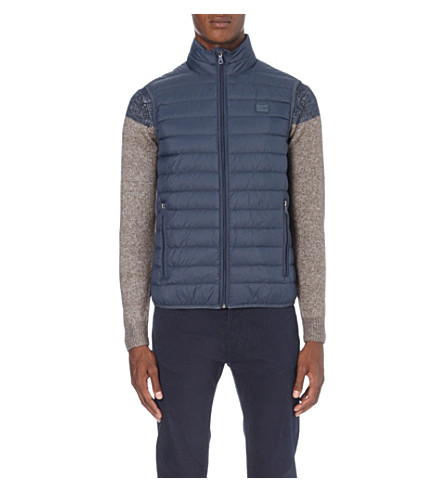 ARMANI JEANS Quilted shell gilet (Blue