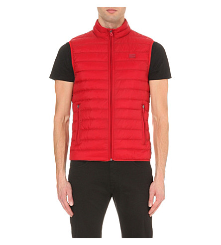ARMANI JEANS Quilted shell vest (Red