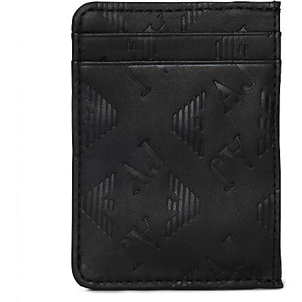 ARMANI JEANS Eagle card holder (Black