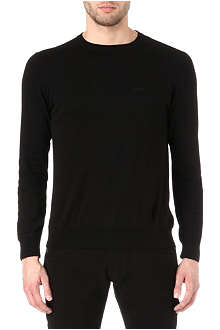 ARMANI JEANS Basic cotton-knit jumper