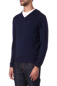 ARMANI JEANS Knitted wool v-neck jumper