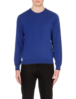 ARMANI JEANS Classic crew neck cotton-wool jumper