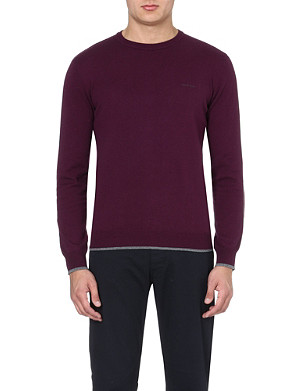 ARMANI JEANS Contrast-trim jumper