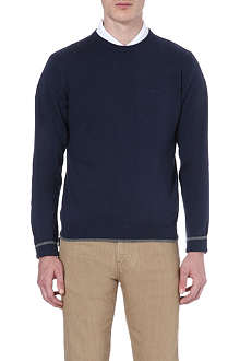 ARMANI JEANS Elbow-patch knitted jumper