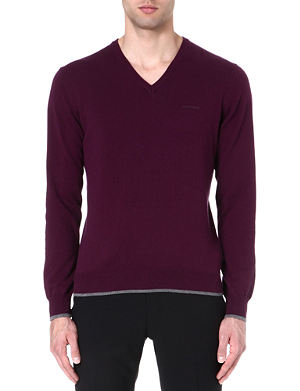 ARMANI JEANS V-neck cotton-blend jumper
