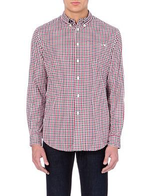 ARMANI JEANS Cotton gingham shirt