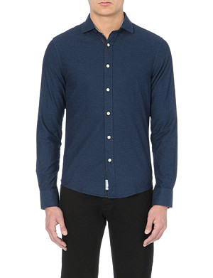 ARMANI JEANS Cotton embroidered logo shirt