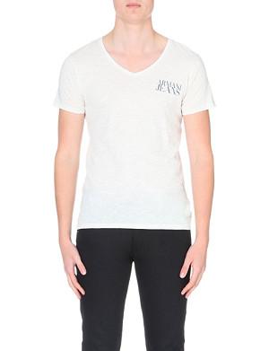 ARMANI JEANS V-neck slub-effect t-shirt