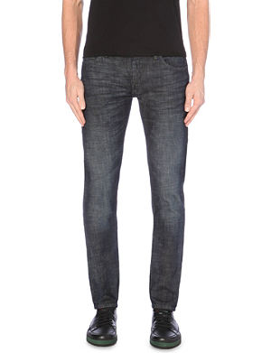 ARMANI JEANS Extra slim-fit tapered stretch-denim jeans