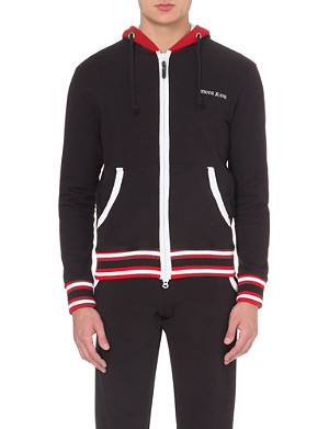 ARMANI JEANS Zip-up cotton-jersey hoody