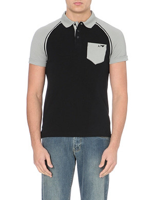 ARMANI JEANS Cotton-piqué polo shirt