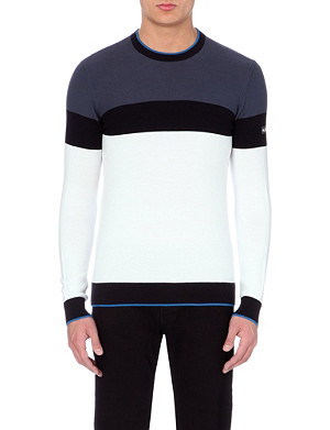 ARMANI JEANS Knitted crew neck jumper