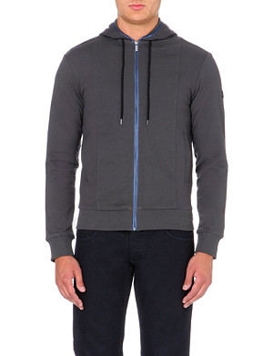 ARMANI JEANS Contrast-piping cotton hoody