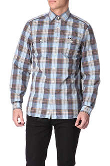 ARMANI JEANS Checked slim-fit shirt