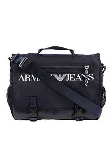 ARMANI JEANS Canvas messenger bag