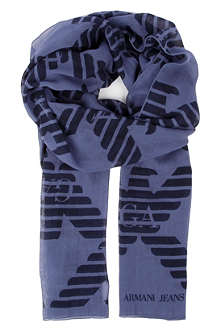 ARMANI JEANS Repeated eagle scarf