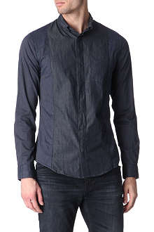 ARMANI JEANS Striped chambray shirt