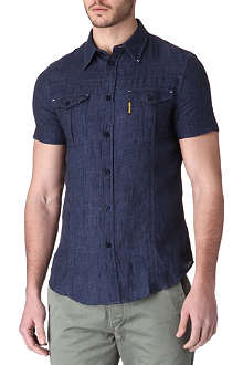 ARMANI JEANS Two-pocket linen shirt