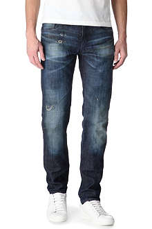 ARMANI JEANS J17 Eco Ice slim-fit tapered jeans