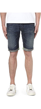 ARMANI JEANS Distressed denim shorts