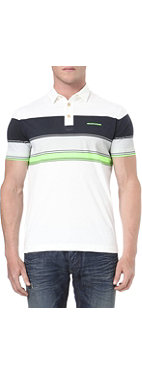 ARMANI JEANS Block-striped polo shirt