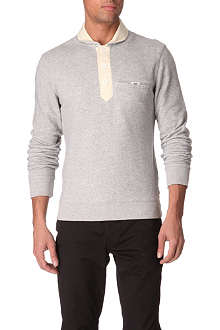 ARMANI JEANS Slim-fit contrast-placket top