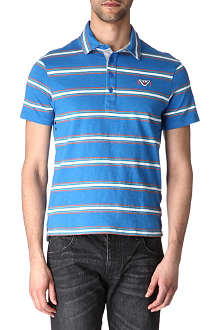ARMANI JEANS Striped polo shirt