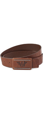 ARMANI JEANS Covered buckle leather belt