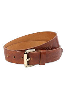 ARMANI JEANS Embossed leather belt