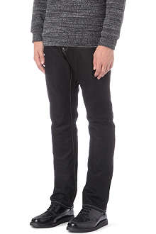 ARMANI JEANS Straight leg coated jeans