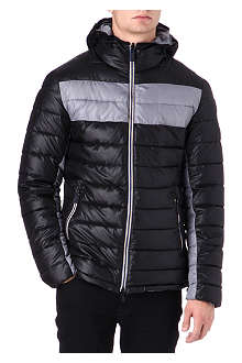 ARMANI JEANS Hooded quilted jacket