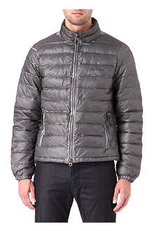 ARMANI JEANS Slim-fit quilted bomber jacket