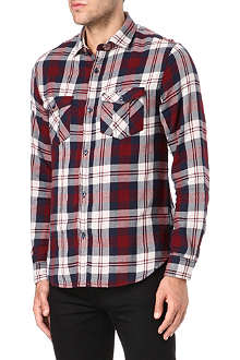 ARMANI JEANS Double pocket check shirt
