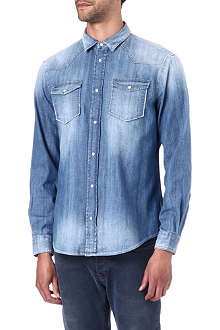 ARMANI JEANS Washed denim shirt