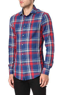 ARMANI JEANS Check tailored shirt