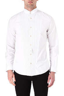 ARMANI JEANS Pleated bib front dress shirt