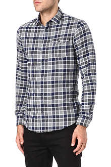ARMANI JEANS Brushed cotton check shirt