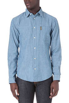 ARMANI JEANS Stripe one-pocket shirt