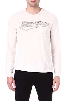 ARMANI JEANS Long-sleeve appliqué t-shirt