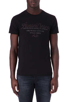 ARMANI JEANS Embroidered t-shirt