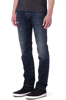 ARMANI JEANS Slim-fit distressed jeans