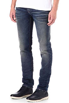 ARMANI JEANS Slim-fit washed Italy Jeans
