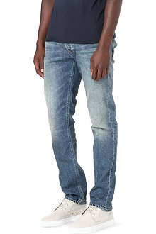 ARMANI JEANS Tapered washed jeans