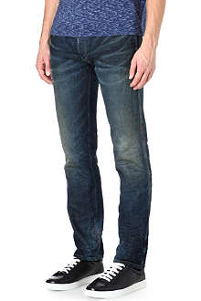 ARMANI JEANS 1981 limited edition slim-fit tapered jeans