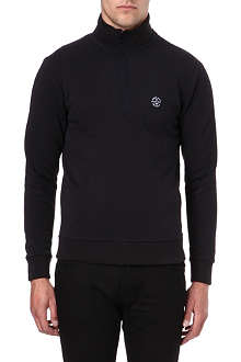 ARMANI JEANS Cotton-blend half zip jumper