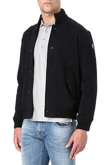 ARMANI JEANS Button through cotton-blend jacket