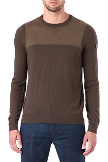 ARMANI JEANS Knit panel jumper