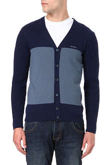ARMANI JEANS Knitted dual colour cardigan